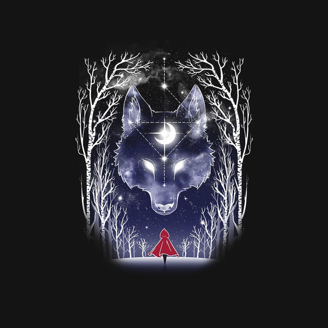 Starry Sky Wolf-mens basic tee-ChocolateRaisinFury