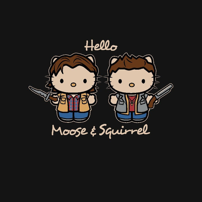 Hello Moose & Squirrel-womens fitted tee-Matt Parsons