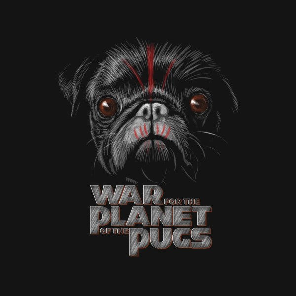 War for the Planet of the Pugs-mens long sleeved tee-bleee