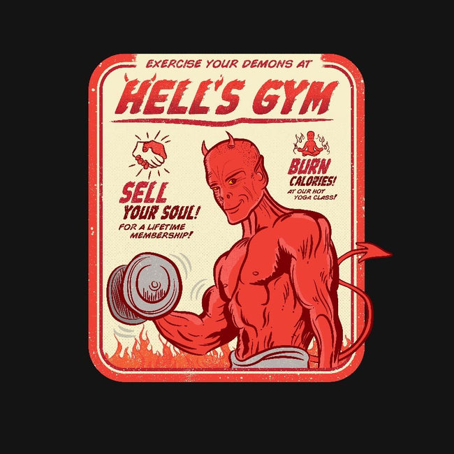 Hell's Gym-womens fitted tee-hbdesign