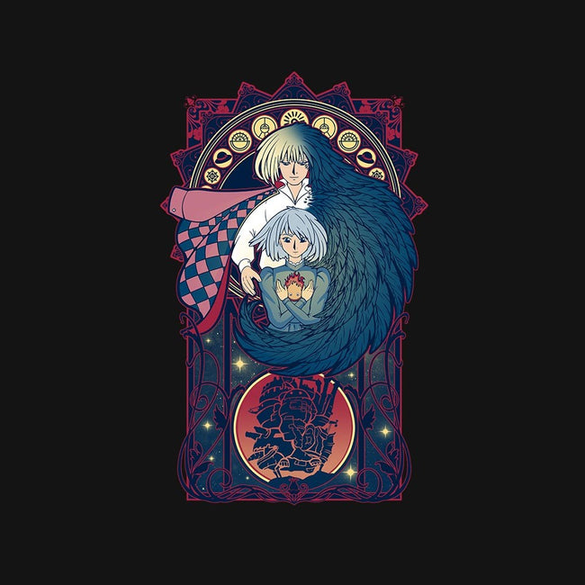 Art of a Moving Castle-womens fitted tee-Chocolateraisinfury