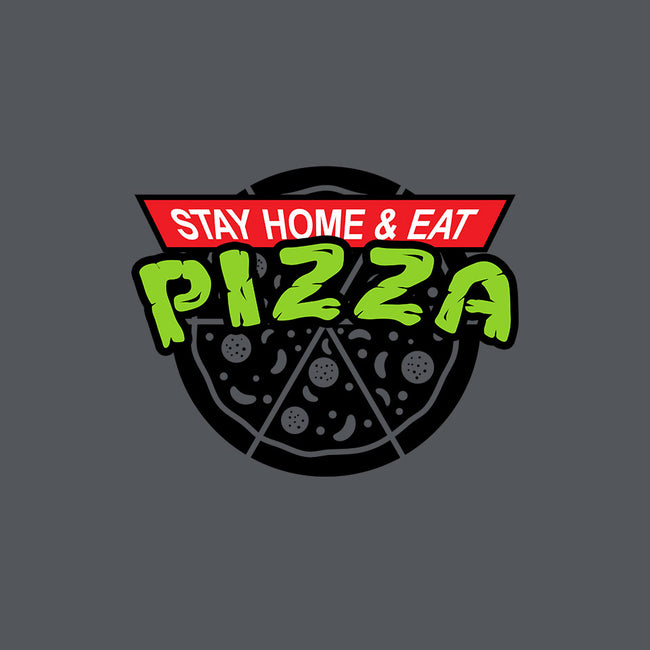 Stay Home and Eat Pizza-mens basic tee-Boggs Nicolas