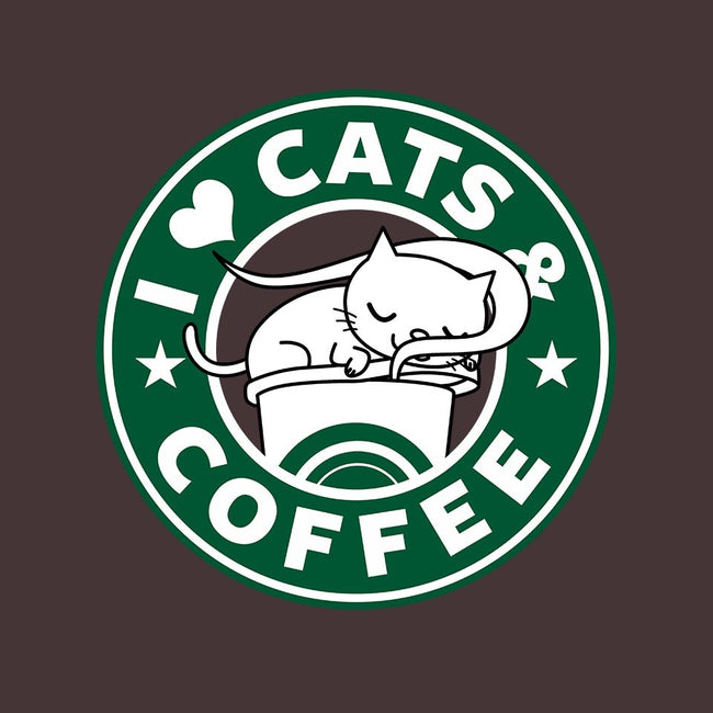 I Love Cats and Coffee-unisex basic tank-Boggs Nicolas