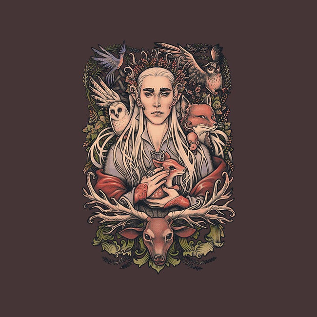 King in the Woodland Realm-womens basic tee-MedusaD