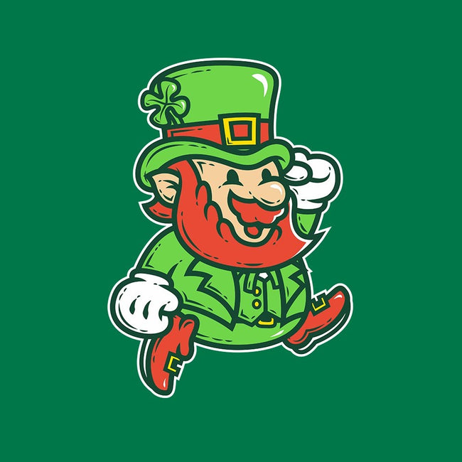 Lucky Jumping Leprechaun-mens basic tee-krisren28