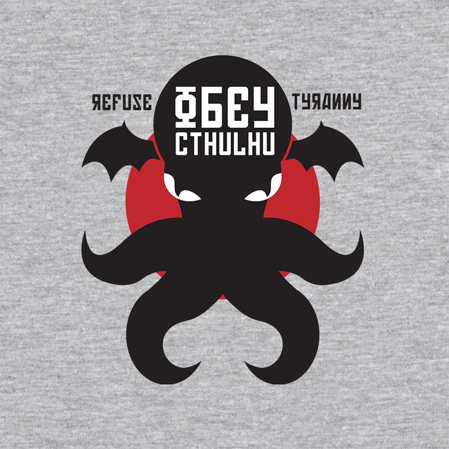Refuse Tyranny, Obey Cthulhu-unisex basic tank-Retro Review