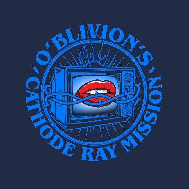 O'Blivion's Cathode Ray Mission-womens fitted tee-boltfromtheblue