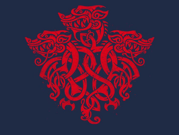 Three Headed Celtic Dragon