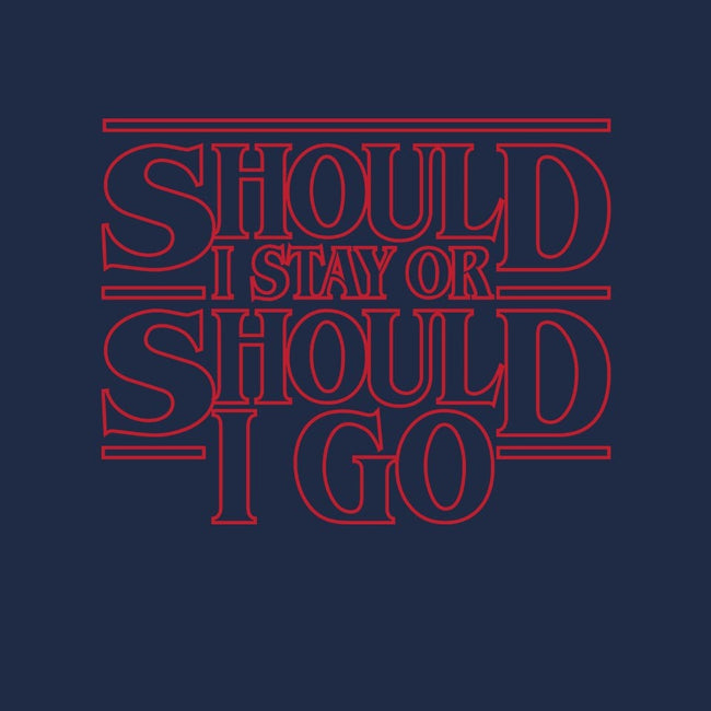 Should I Stay Or Should I Go-mens basic tee-Retro Review