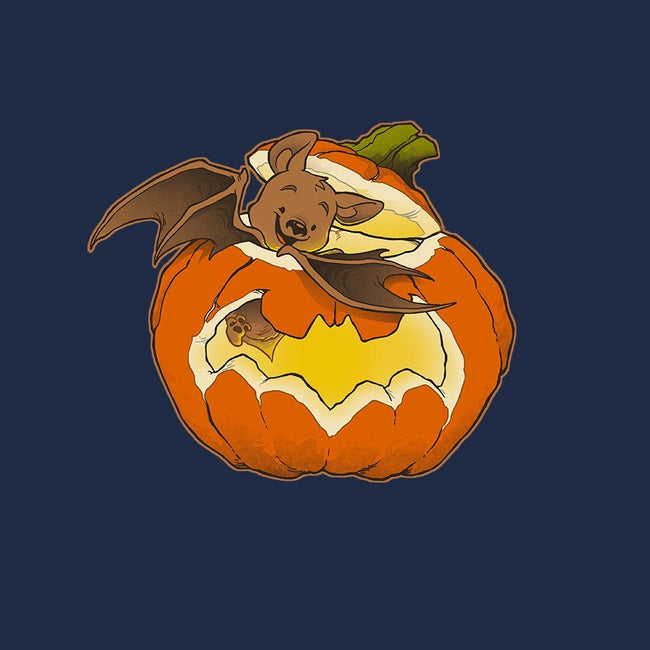 Pumpkin Bat-womens fitted tee-DoOomcat