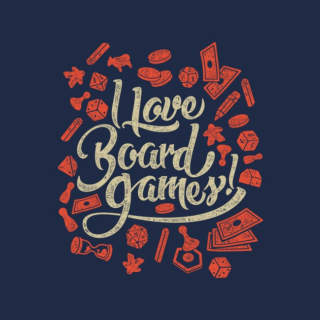I Love Board Games-womens fitted tee-Melee_Ninja