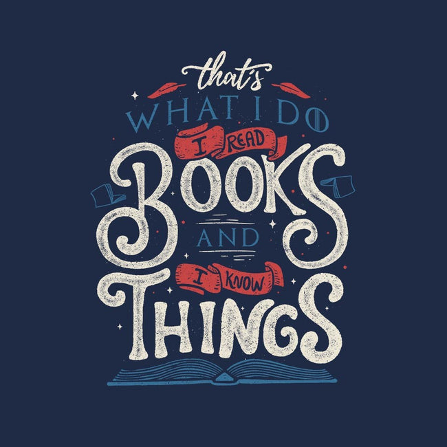 I Read Books and I Know things-mens basic tee-Tobefonseca