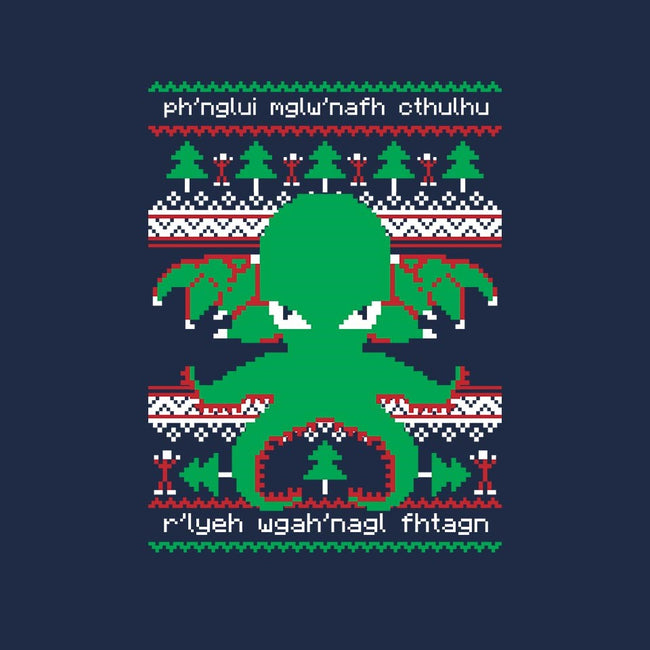 Cthulhu Cultist Christmas-mens long sleeved tee-Retro Review