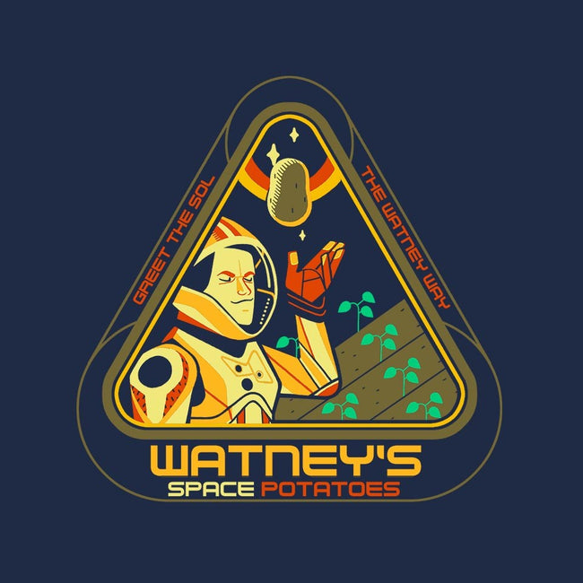 Watney's Space Potatoes-mens basic tee-Glen Brogan