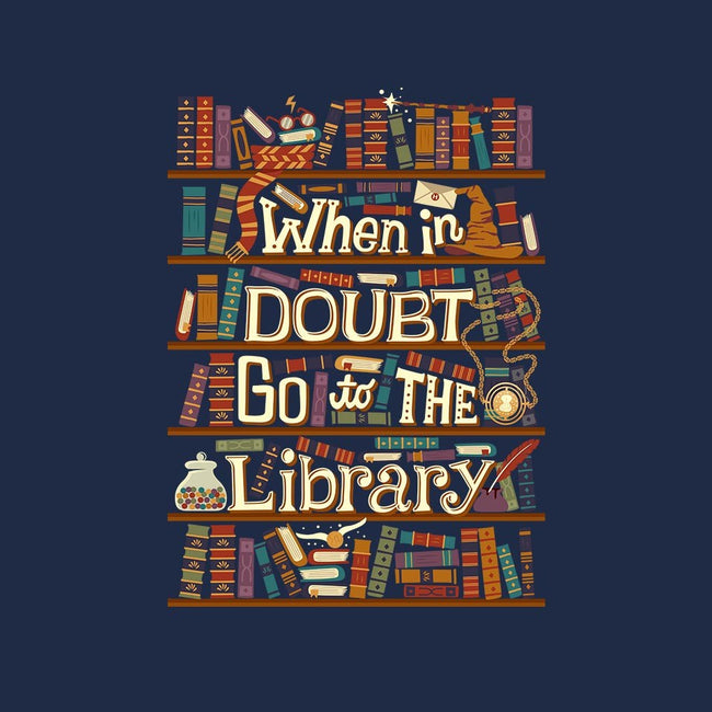 Go To The Library-mens basic tee-risarodil