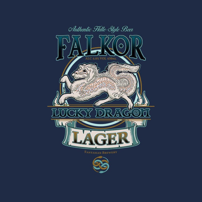 Lucky Dragon Lager-mens basic tee-etcherSketch