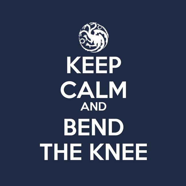 Keep Calm and Bend The Knee-youth basic tee-Asyram