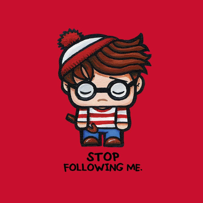Stop Following Me-mens basic tee-SuperEmoFriends