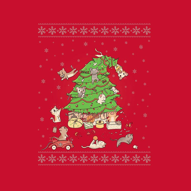 Purrrfect Christmas-womens fitted tee-LiRoVi