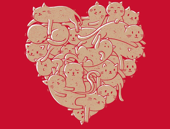 I Love Cats Heart