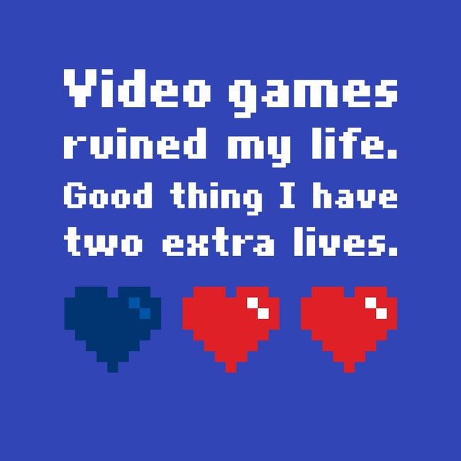Video Games Ruined My Life-womens fitted tee-Larlar