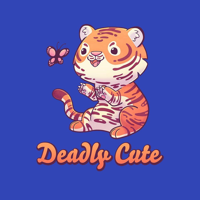Deadly Cute Tiger-unisex basic tank-Geekydog