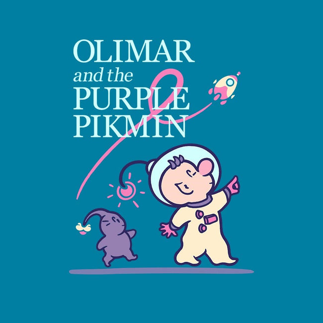 Olimar and the Purple Pikmin-womens basic tee-Minilla