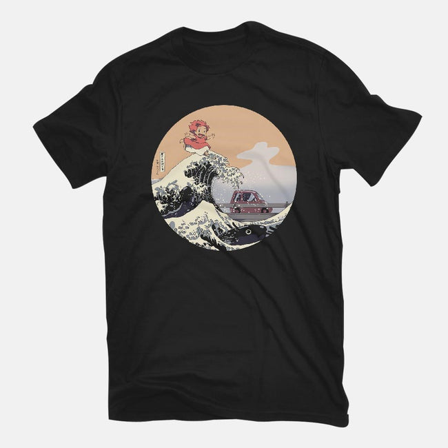 On the Cliff by the Sea-youth basic tee-leo_queval
