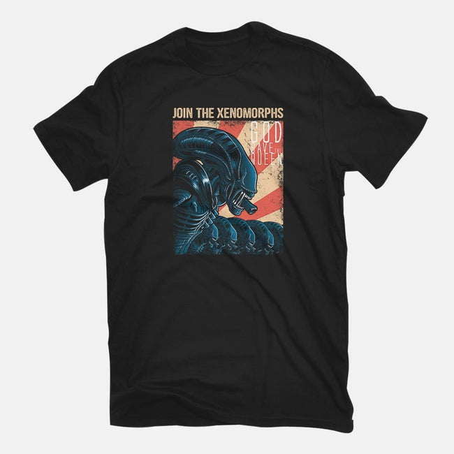 Join the Xenomorphs-mens basic tee-trheewood