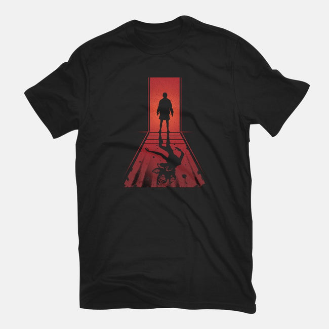 Upside Down Shadows-womens fitted tee-AlynSpiller
