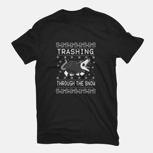 Trashing Through the Snow-mens basic tee-identitypollution