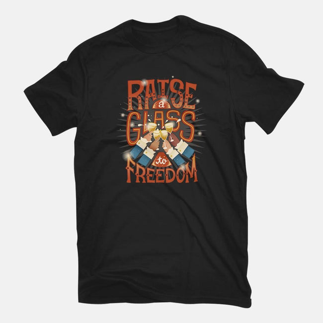 Raise A Glass To Freedom-mens premium tee-risarodil