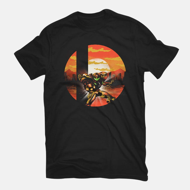 Ultimate Space Hunter-womens fitted tee-dandingeroz