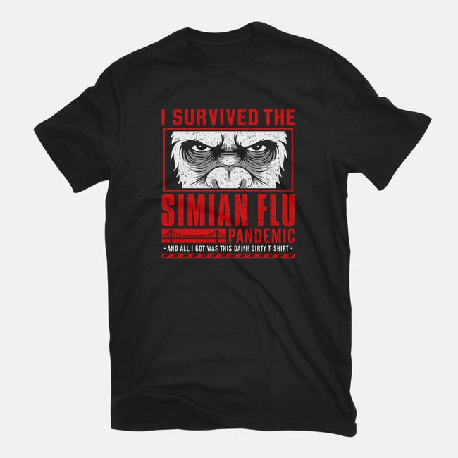I Survived the Simian Flu-mens long sleeved tee-adho1982