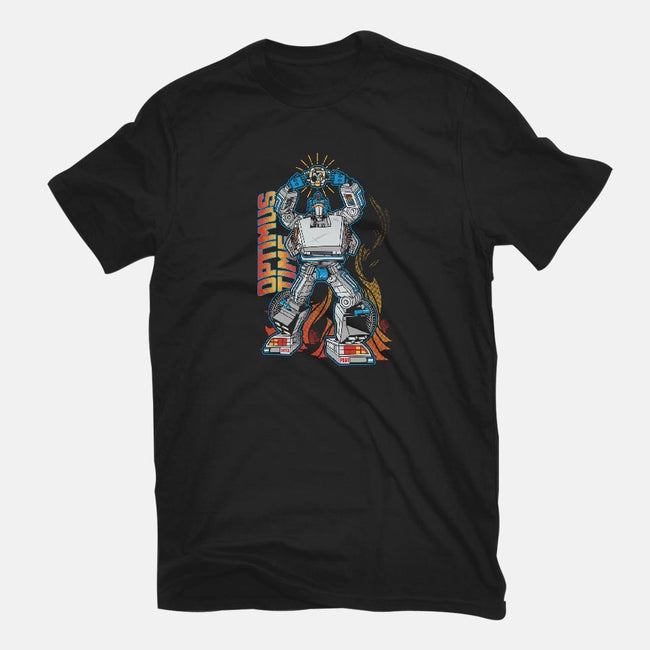 Optimus Time-womens fitted tee-AtomicRocket
