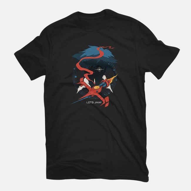 Retro Space Cowboy-womens basic tee-vp021