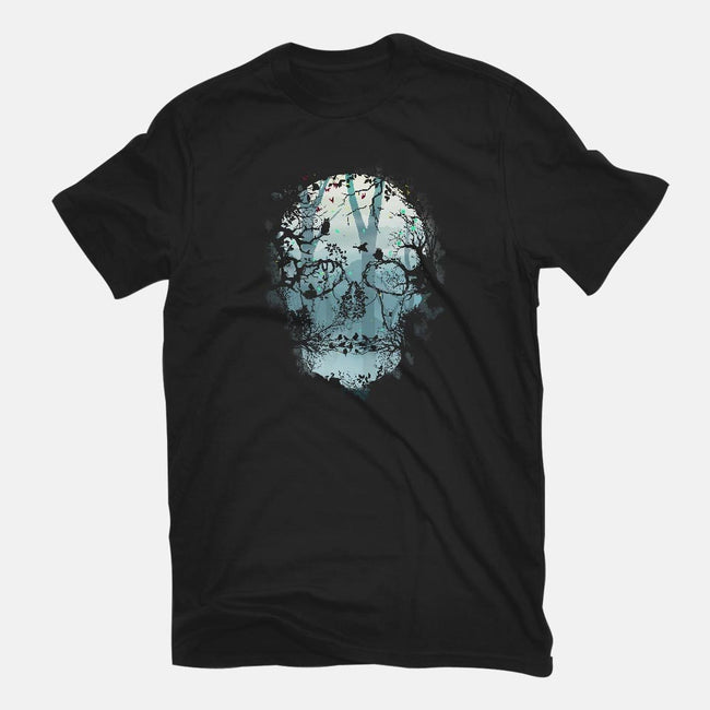 Dark Forest Skull-youth basic tee-Sitchko Igor