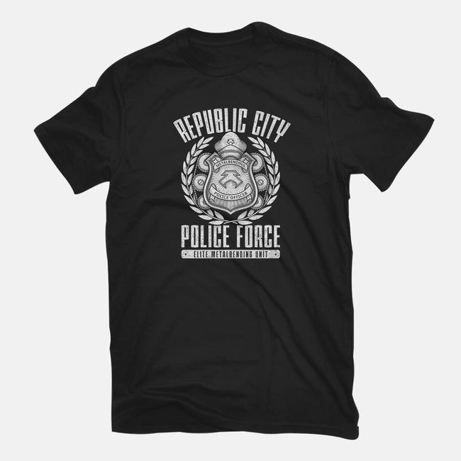 Republic City Police Force-mens basic tee-adho1982