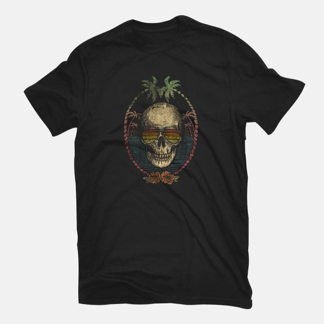 Palm Skull-mens basic tee-Mike Koubou