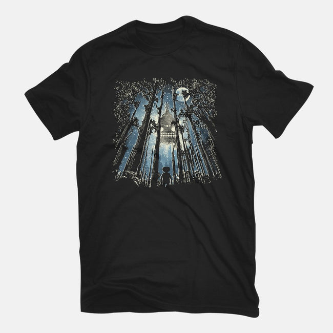 UFO In The Trees-womens fitted tee-dalethesk8er
