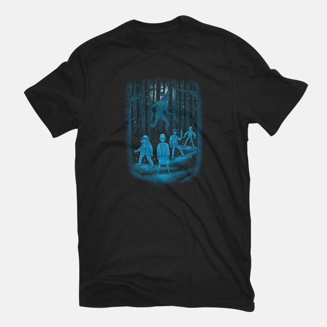 Darkness Lurks-youth basic tee-trheewood