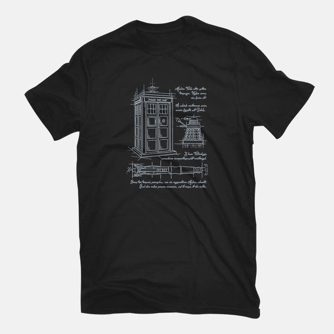 Time Travel Schematic-youth basic tee-ducfrench