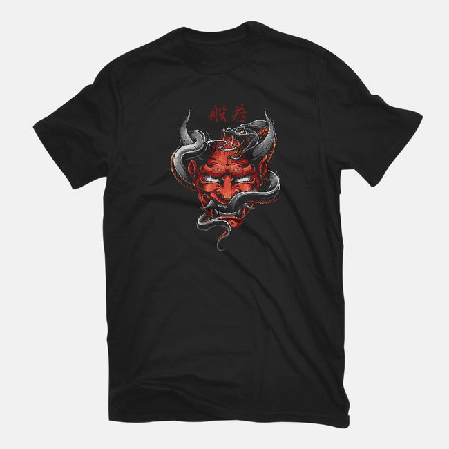 Hannya-womens basic tee-Blackout Brother