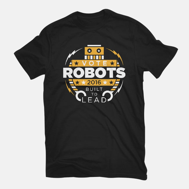 Vote Robots-womens fitted tee-AJ Paglia
