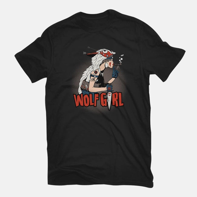 Wolf Girl-mens basic tee-beware1984