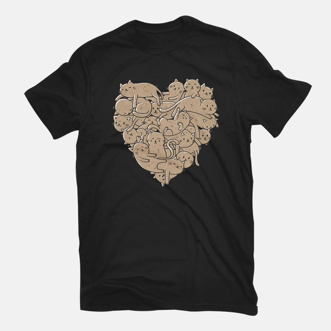 I Love Cats Heart-womens basic tee-tobefonseca