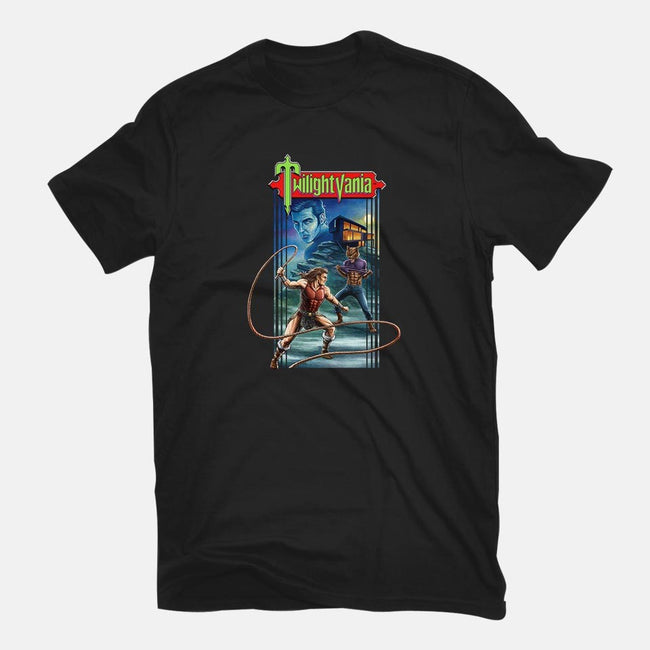 Twilightvania-womens fitted tee-Moutchy
