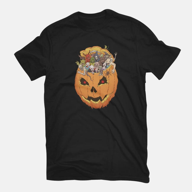 Halloween Monsters-mens long sleeved tee-Moutchy
