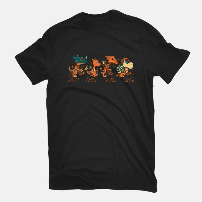 Orange Fiery Road-mens basic tee-PrimePremne