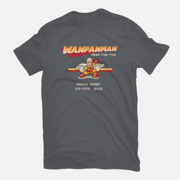 Wanpanman-womens fitted tee-The Grilled Bacon